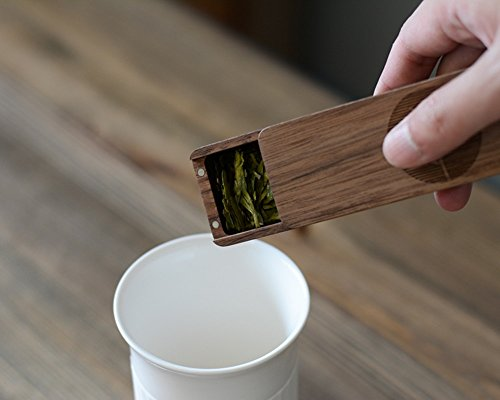 WOOD MEETS COLOR Portable Wooden Tea Box, Coffee Box (Walnut)