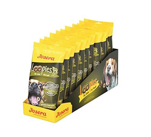 JOSERA Loopies mit Lamm, getreidefreie Hundeleckerlis mit wenig Fett, Super Premium Qualität ohne Zucker, 11er Pack (11 x 150 g)