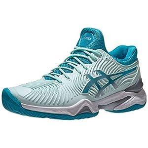 ASICS Women's Court FF 2 Tennis Shoes, 7, BIO Mint/Lagoon