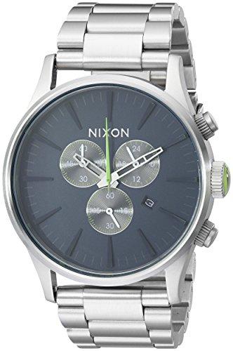 Nixon Reloj Cronógrafo de Cuarzo para Hombre con Correa de Acero Inoxidable – A3861981-00