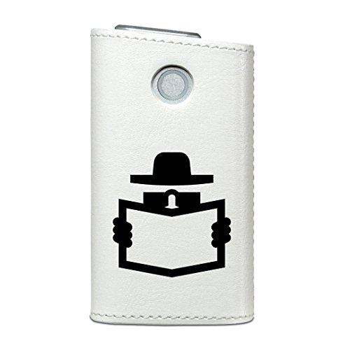 glo グロー グロウ 専用 レザーケース レザーカバー タバコ ケース カバー 合皮 ハードケース カバー 収納 デザイン 革 皮 ユニーク 帽子 イラスト 006585