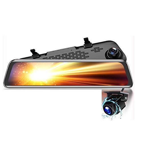 Flashing Mirror retrovisor de 12 Pulgadas Cámara DVR DVR DASHCAM GPS FHD Dual Dual 1080P Lente de la Lente Video Recorder Dash CAM (Color : 32G Card, Size : V17S)