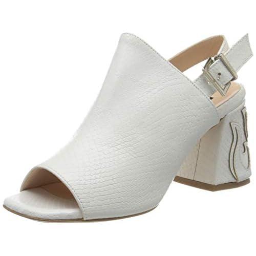 Pinko Ortica, Sandali con Cinturino alla Caviglia Donna, Bianco (Bianco Brillante Z04), 37 EU