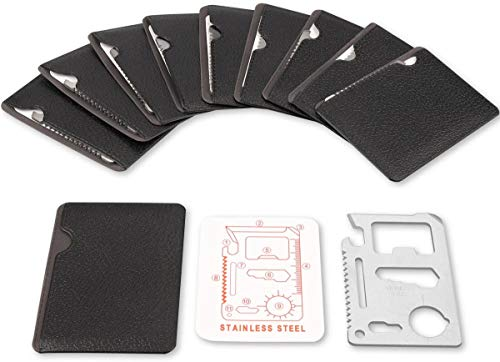 Stainless Steel 11 in 1 Beer Opener Survival Card Tool Fits Perfect in Your Wallet 20 pack