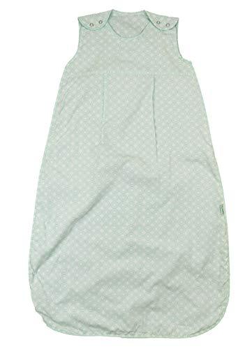 Saco de dormir para bebé, 0,5 tog, 1 tog, ideal para verano o vacaciones calurosas. verde Círculos de menta 1 Tog Talla:0-6 meses