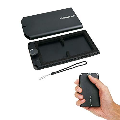 PROfezzion 薄型 メモリーカードケース カードケース CF 2枚 カード 収容 アルミニウム合金製 CFカードケース 携帯便利 防塵 薄型