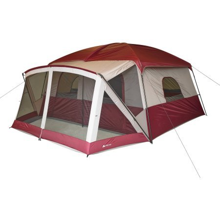 Ozark Trail 12-Person Cabin Tent with Screen Porch, Red by '12-Person Cabin Tent with Screen Porch, Red'