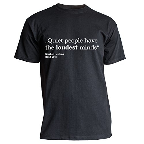 Nukular T-Shirt Quiet People - Stephen Hawking, Farbe schwarz, Größe XL
