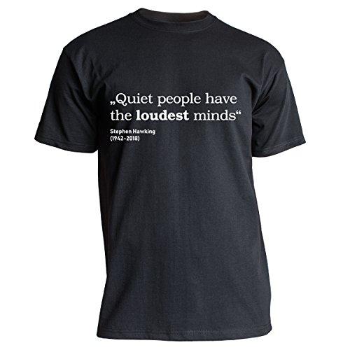 Nukular T-Shirt Quiet People - Stephen Hawking, Farbe schwarz, Größe XXXL