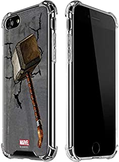 Skinit Clear Phone Case for iPhone 8 - Officially Licensed Marvel/Disney Mjolnir Hammer of Thor Design