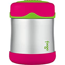 Image: THERMOS FOOGO Vacuum Insulated Stainless Steel 10-Ounce Food Jar | Vacuum insulation maintains temperature of the contents longer | inhibits bacteria growth and spoiling