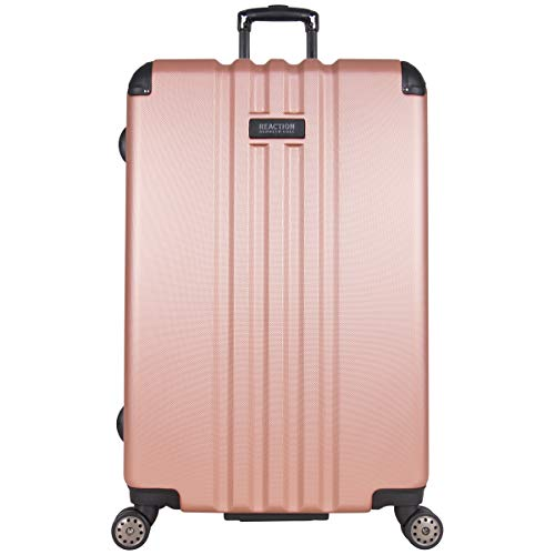 Kenneth Cole Reaction Reverb 29' Hardside Expandable 8-wheel Spinner Checked Luggage Suitcase, inch, Rose Gold