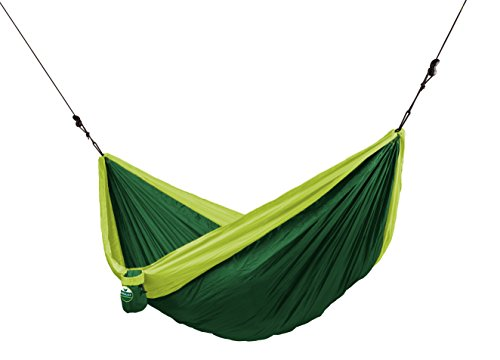 CHILLAX Forest Green - Double Travel Hammock with Integrated Suspension