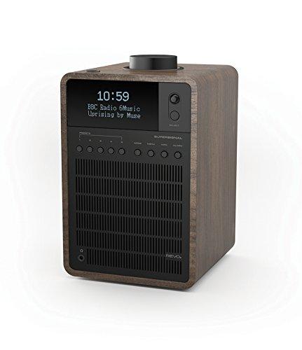 Revo SuperSignal DAB+/DAB/UKW Radio (DAB+/DAB/UKW,Bluetooth aptX,Aux In,Cinch-Out,Kopfhörer Ausgang,Fernbedienung,inkl. Netzteil) Walnuß-Schwarz