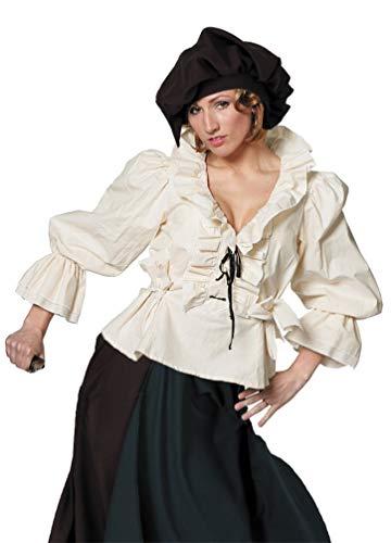 Karneval-Klamotten Magd Kostüm Damen Mittelalter-Bluse