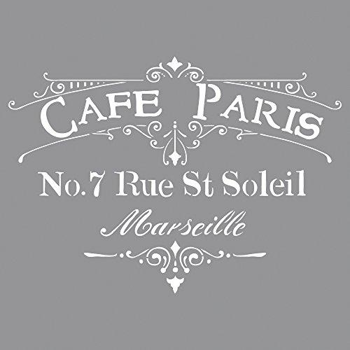 Rayher Plantilla Café Paris, Surtido, 30,5x30,5cm, SB-Bol 1unidad
