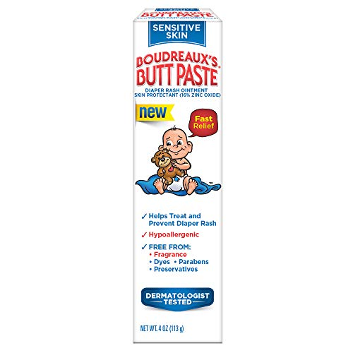Boudreaux's Butt Paste Sensitive Skin Diaper Rash Ointment, 4 oz Tube