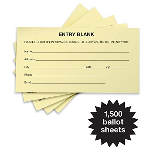 1500 Entry Forms - Includes 15 Blank Raffle Ticket Pads - (Yellow) - GPP-0023