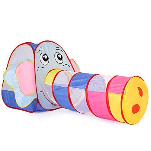 SHWYSHOP Túnel de tienda para niños 2 en 1, túnel de tienda pop-up, bolsas de almacenamiento con cremallera para uso interior y exterior, como regalo para niños