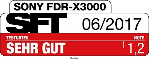 Sony FDR-X3000R 4K Action Cam mit BOSS Live View Remote Fernbedienung – weiß - 49
