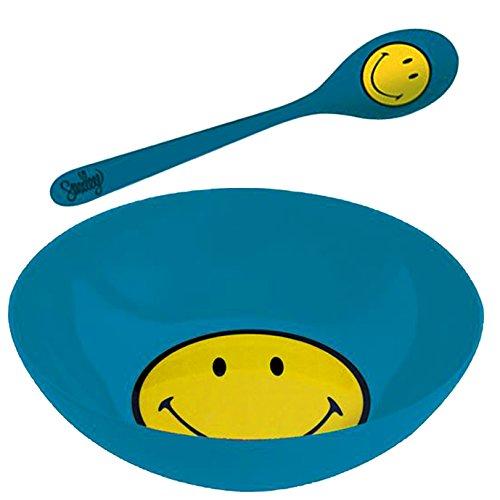 zak! Frühstücksset Smiley Ø17cm in blau, Melamin, 17 x 17 x 7 cm