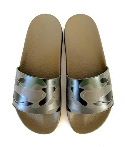 Valentino Chanclas de goma RY2S0873PCG camuflaje verde Size: 45 EU