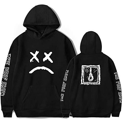 East-hai-buy Lil Peep Hombres Sudaderas con Capucha Casuales, Lil Peep Impreso Divertidas Sudaderas Streetwear Sudaderas con Capucha Lil Peep suéter