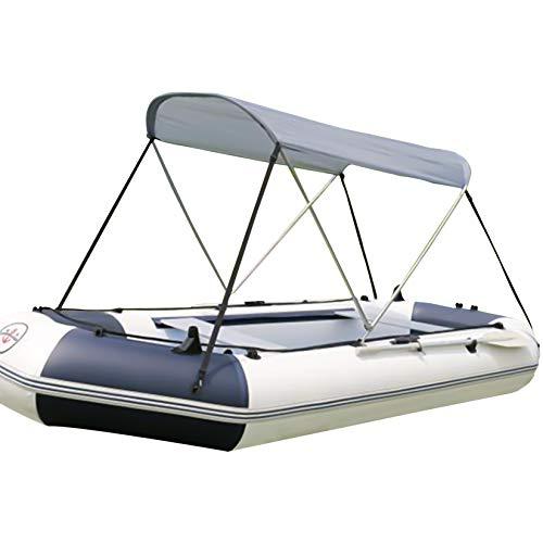 HAN XIU 129 Pulgadas Bimini Boat Top Cubre El Toldo Marino, A Prueba De Agua Y El Toldo Al Aire Libre A Prueba De UV para Embarcaciones Inflables Y Botes De Pesca