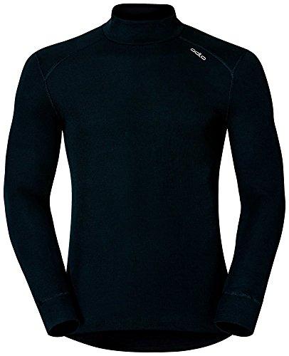 Odlo Herren Shirt Long Sleeve Turtle Neck Warm Funktionsunterwäsche-Unterhemden-Bekleidung, Black, L