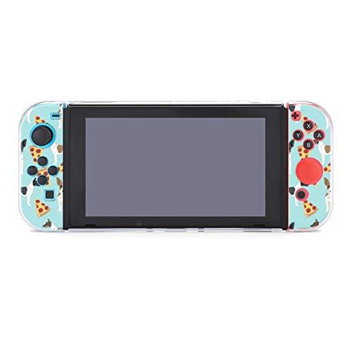 Funda protectora para Nintendo Switch, Rat Terrier Dog Pizza Pattern Funda duradera para Nintendo Switch y Joy Con