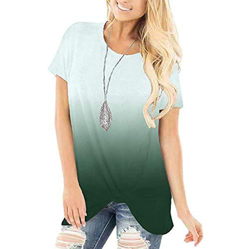 MOMOXI Verano Tops/Blusas/Camisas para Mujer, Mujer Criss Cross Camiseta sin Mangas con Cuello en V Tops Blusa