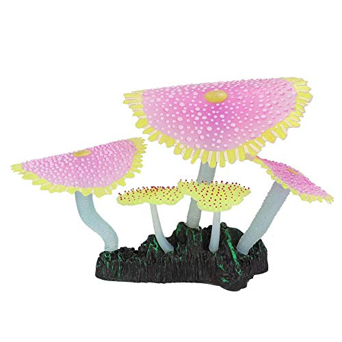 Nannday 【𝐎𝐬𝐭𝐞𝐫𝐟ö𝐫𝐝𝐞𝐫𝐮𝐧𝐠𝐬𝐦𝐨𝐧𝐚𝐭】 Aquarium Seeanemonen Ornament, Kunststoff künstliche Pflanzen Fischerei Tank leuchtende Seeanemonen Dekor Zubehör(1#)