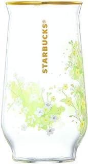 海外 Starbucks Baby rose goldrim glass 473mlスターバックス春 スタバグラス スタバさくら2019 [海外直送品]