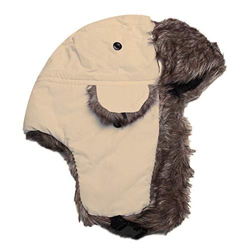 Mlamat Gorro de Trapper clido invernal impermeable unisex con orejeras de piel sinttica para ciclismo, camping, senderismo o correr