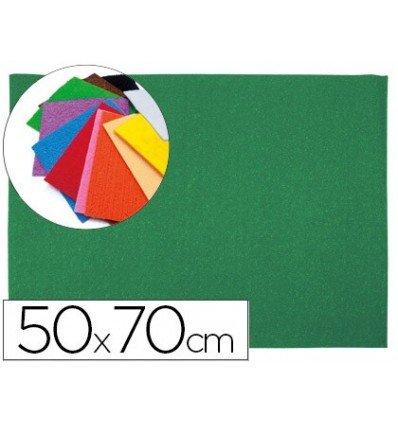 Liderpapel - Goma eva 50x70cm 60g/m2 espesor 2mm textura toalla verde (10 unidades)