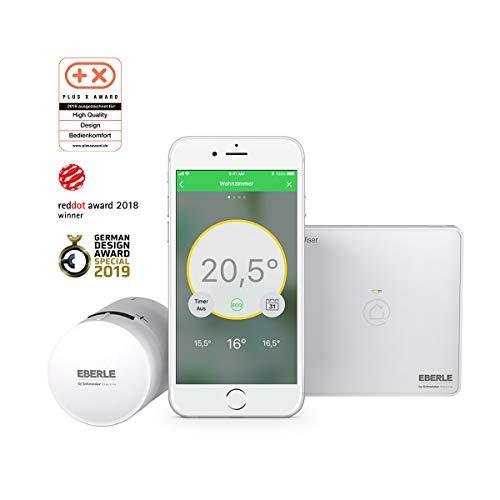 Eberle Uni Wv704r9k1804 Smartes Heizk rperthermostat, Weiß, Starter Kit Lite EU