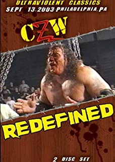 CZW- Combat Zone Wrestling- Redefined Double DVD-R Set