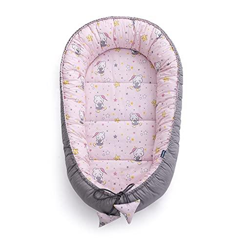 MayaMila - Cuna de viaje para bebés recién nacidos, 3 piezas, 100% algodón, 95 x 60 x 15 cm, extraíble y cojín de Schmeterrling