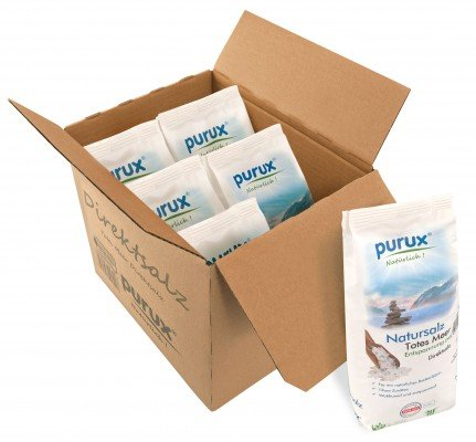 purux Totes Meer Salz 6kg Direktsalz 6x 1kg Badesalz absolut naturbelassen