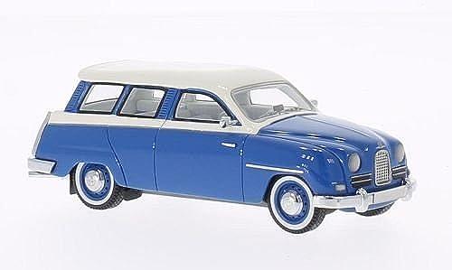Con 100% de calidad y servicio de% 100. Saab 95 , azul blanco, 1958, Modelo de Auto, modello modello modello completo, Neo 1 43  Compra calidad 100% autentica