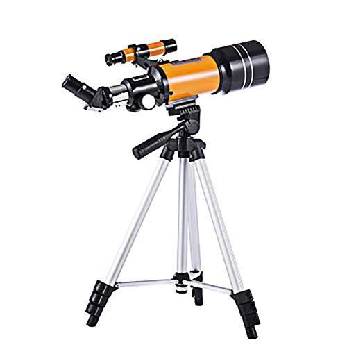 FMC Telescopio - Telescopio Refractor con Trípode Portátil Mirando Las Estrellas Ideal para Principiantes Adultos De Los Niños Adolescentes Astrofotografía