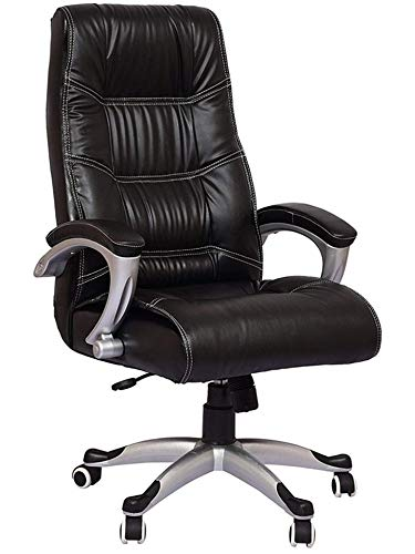 Nice Chair Leather High Back Executive Revolving Office Chair (Black)