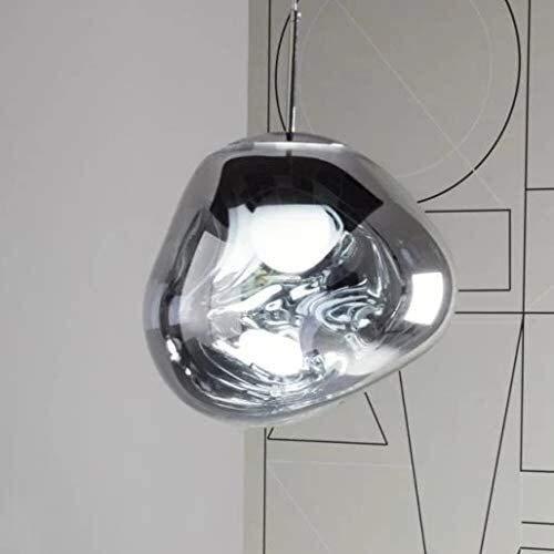 Luminarias, 212, Moderno vidrio de vidrio de forma irregular Estilo de los diseñadores de luz de derretimiento de la sombra de la sombra de la luz de la lámpara de la cabeza de la cabeza de la cabeza