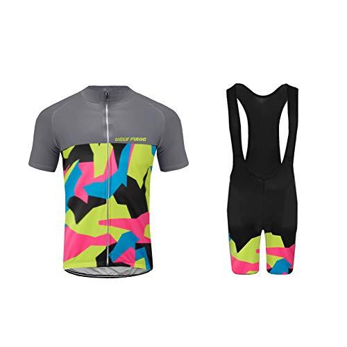 Uglyfrog 2019 Herren Pro Rennen Team MTB Radbekleidung Radtrikot Kurzarm und Radhosen Anzug Cycling Jersey Shorts Suit