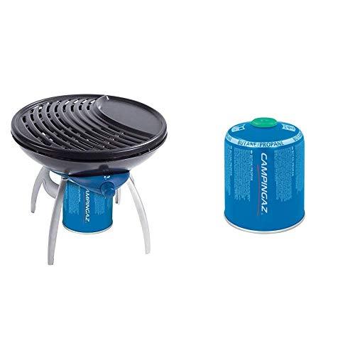 Campingaz Fornello Party Grill & Cv 470 Plus Bombola Gas Con Valvola, Per Fornelli Da Campeggio, Cartuccia Compatta E Richiudibile (L'Imballaggio Puo Variare)