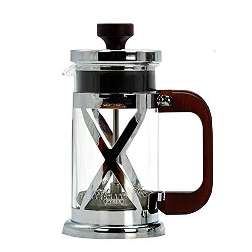 Cafetera Acero inoxidable portátil fabricante de café francés Tea Pot máquina Moka con filtro Filtro de viajes Borosilica cristal Cafetera, 600 ml Para el hogar, la cocina, la oficina.