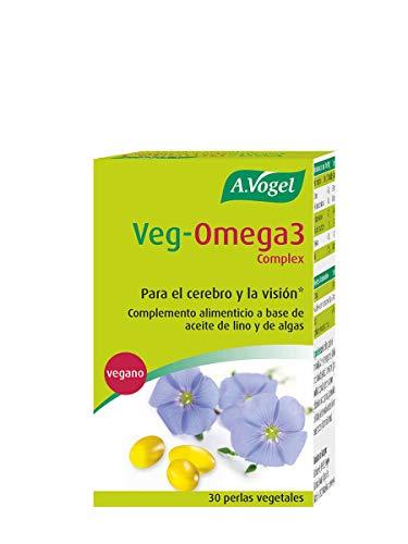 Veg-Omega 3 Complex | Vegano | Para el cerebro y la visión* | 30 Cápsulas | A.Vogel