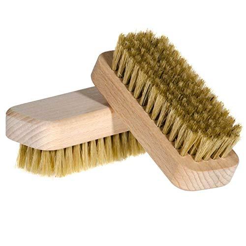 Sidco - Spazzola per unghie, in sisal e legno