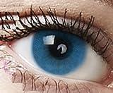 """Farbige Kontaktlinsen 3 Monatslinsen hellblau blau""""Sky Blue"""" gute Deckkraft ohne Stärke mit Aufbewahrungsbehälter -"""