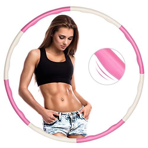 ZOYJITU Fitness Hula Hoop zur Gewichtsreduktio, Hula Hoop Reifen Erwachsene & Kinder, Reifen mit Schaumstoff von 0,75 bis 1,0kg einstellbar Hula Hoop Reifen für Fitness